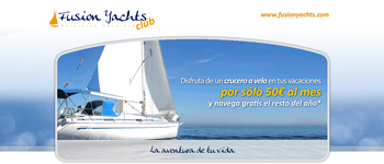 landing page fusion yachts club